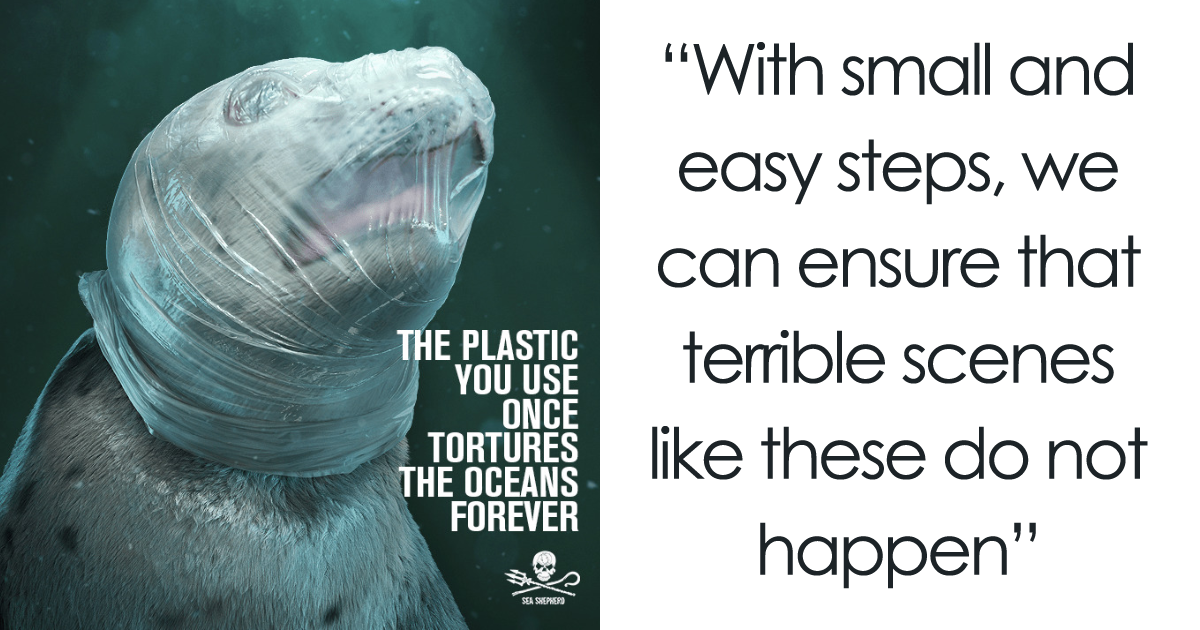 A Shocking Campaign Uses Graphic Images To Point Out The Damage That Plastic Pollution Has On The Ocean's Wi