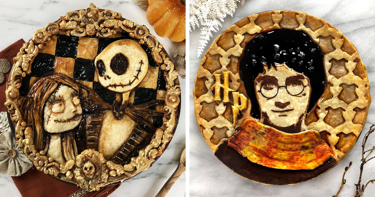 """I Bake """"Nerd Pies"""" To Celebrate My Favorite Characters From Pop Culture (65 Pics)"""