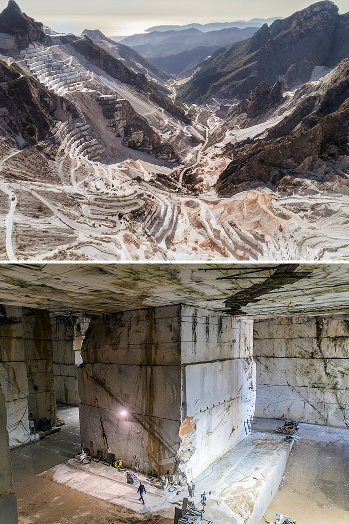 This Is How Marble Quarry Looks Like Inside And Outside