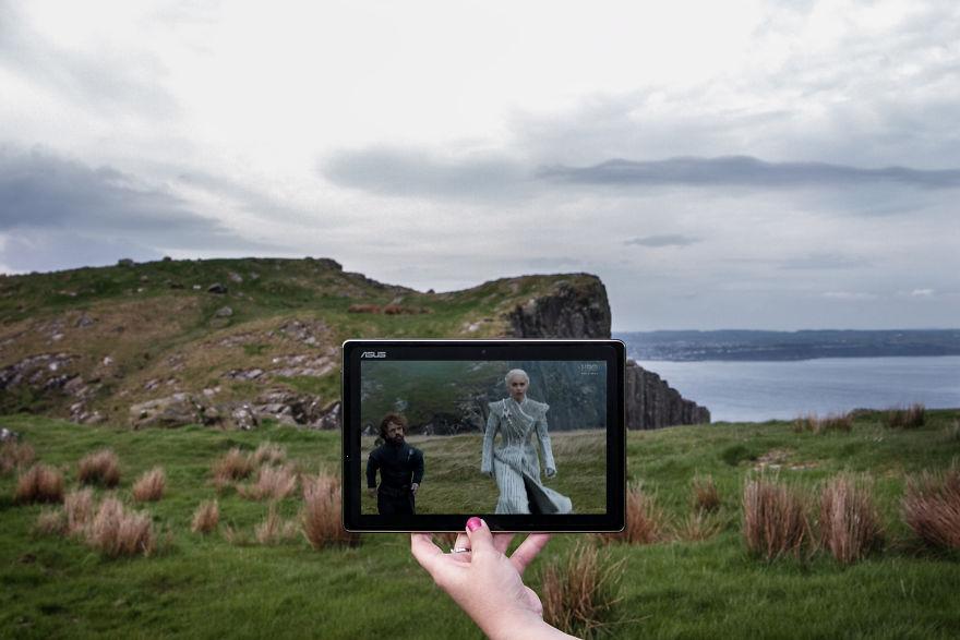 Tyrion Lannister And Khaleesi At Fair Head, Northern Ireland