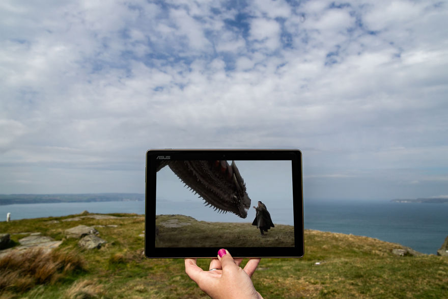 Jon Snow Meeting The Dragon For The First Time At Fair Head, Northern Ireland