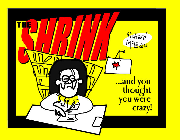 I Was Diagnosed With 'Schizophrenia' Amongst Other Things, And I Created A Black Comedy Cartoon Book About The Absurdities Of Psychiatry!