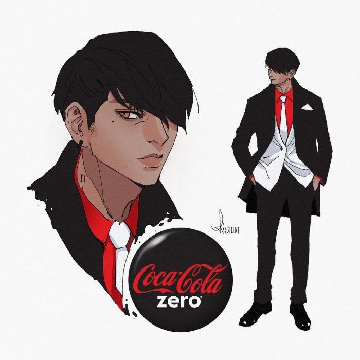 Karakter Coca-cola Zero