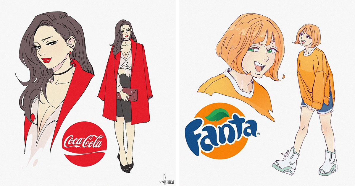 13 Of The Most Popular Soda Drinks Turned Into Cartoon Characters By Sillvi