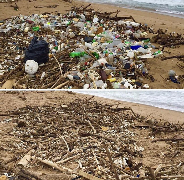 We've Picked Up Tons From Durban Beaches Over The Years #trashtag