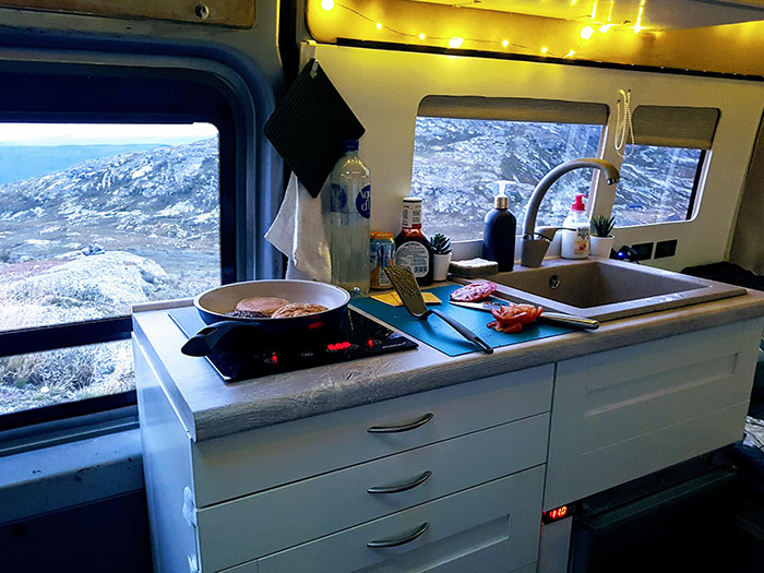 This Van's Kitchen May Be Small But The Views Are Infinite