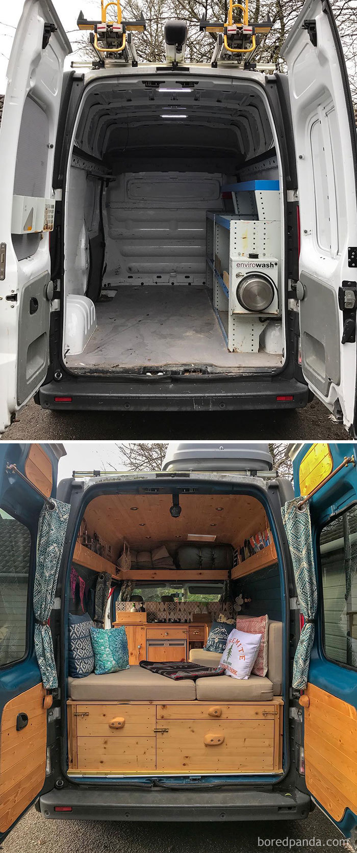 Then And Now. It's 2 Years To The Day Since We Picked Up Our Little Van. Looks A Wee Bit Different Now