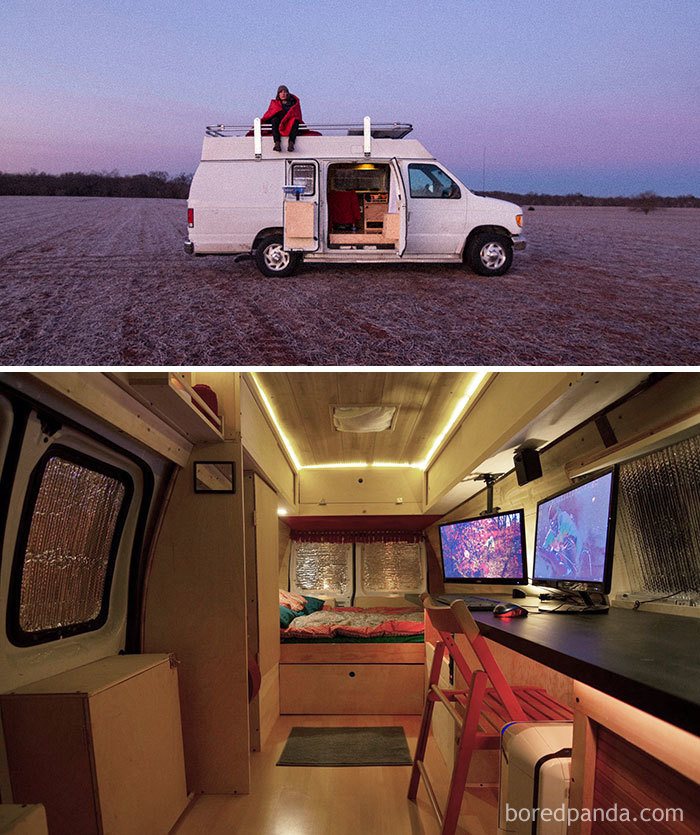 How I Turned An Old Surveillance Van Into A Home