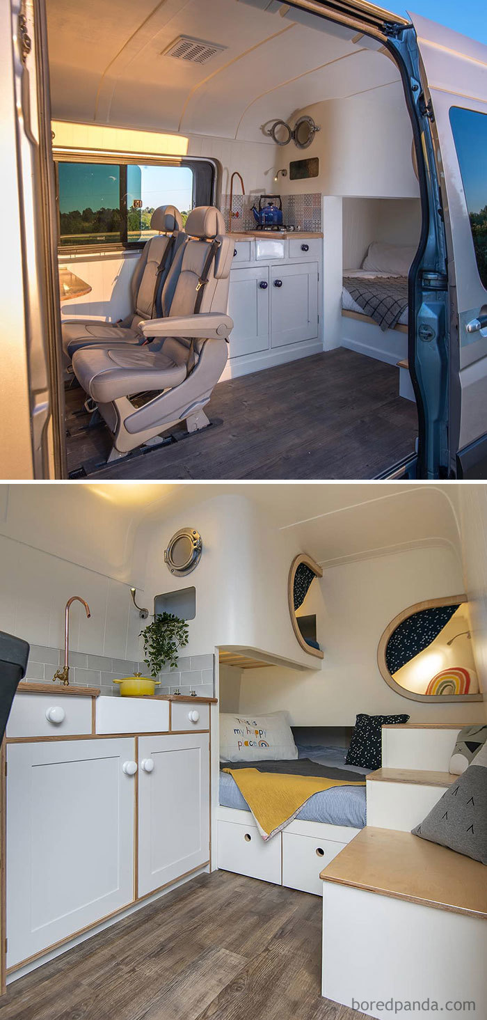 Interior Shot Of The Recently Completed Jubel Explorer On A Long Wheel Base Mercedes Benz 316 Sprinter