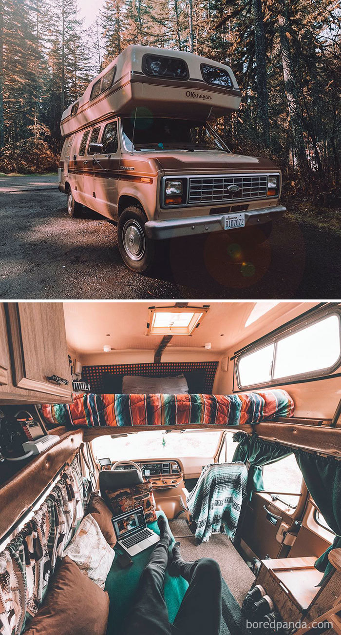 Finally Sharing Some Interior Pics Of My '85 Camper Van That I've Been Traveling The World In