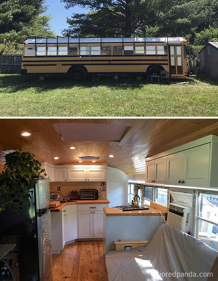We Just Moved Into Our Bus After Over A Year Of Work, So Excited