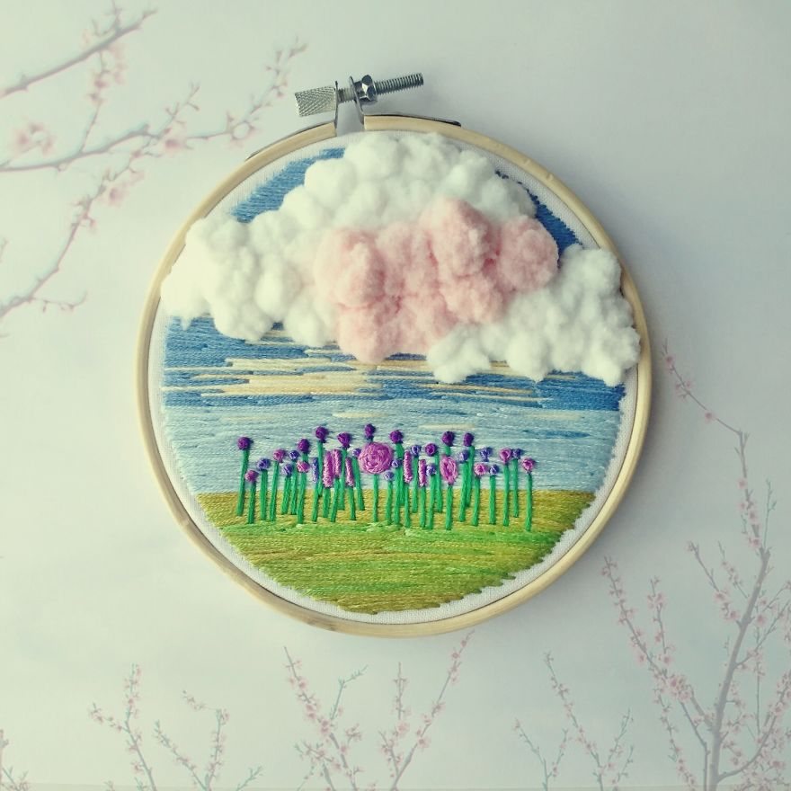 Flowers And Clouds