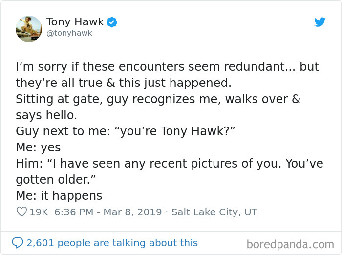 12 Hilarious Times People Didn't Realize They Were Talking To Tony Hawk (New Tweets)