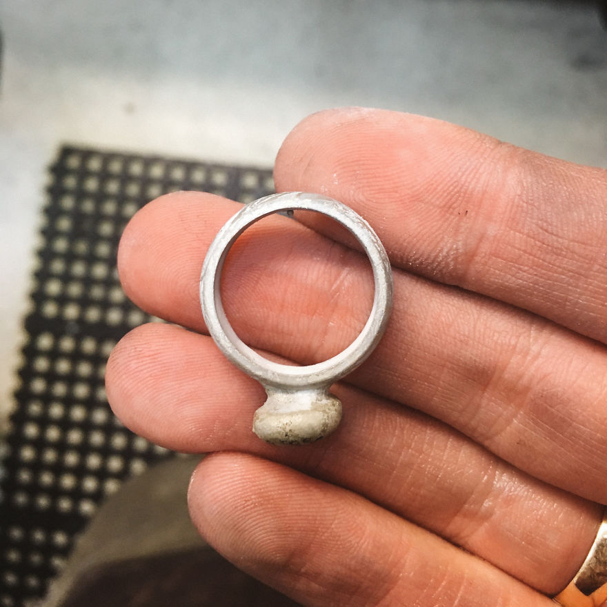 Man Brings A Completely Smashed Wedding Ring, Asks Me To Remake It As Accurately As Possible
