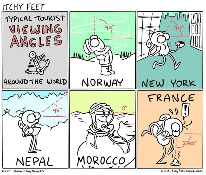 A Very Entertaining Artist Creates A Guide To Show The Languages And Customs Of Different Countries