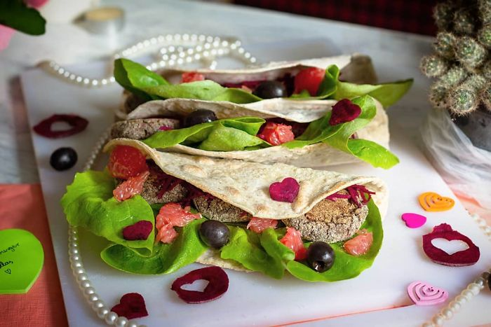 Love Wraps With Chickpea Falafel