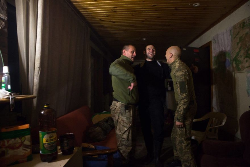 Drinking With The Soldiers In Donbas, Ukraine