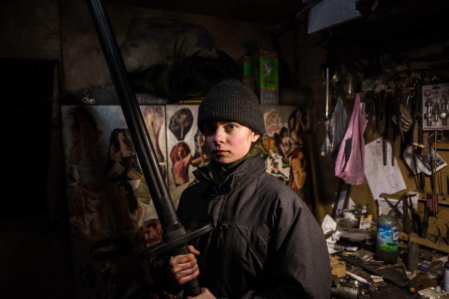 Female Blacksmith In Ukraine