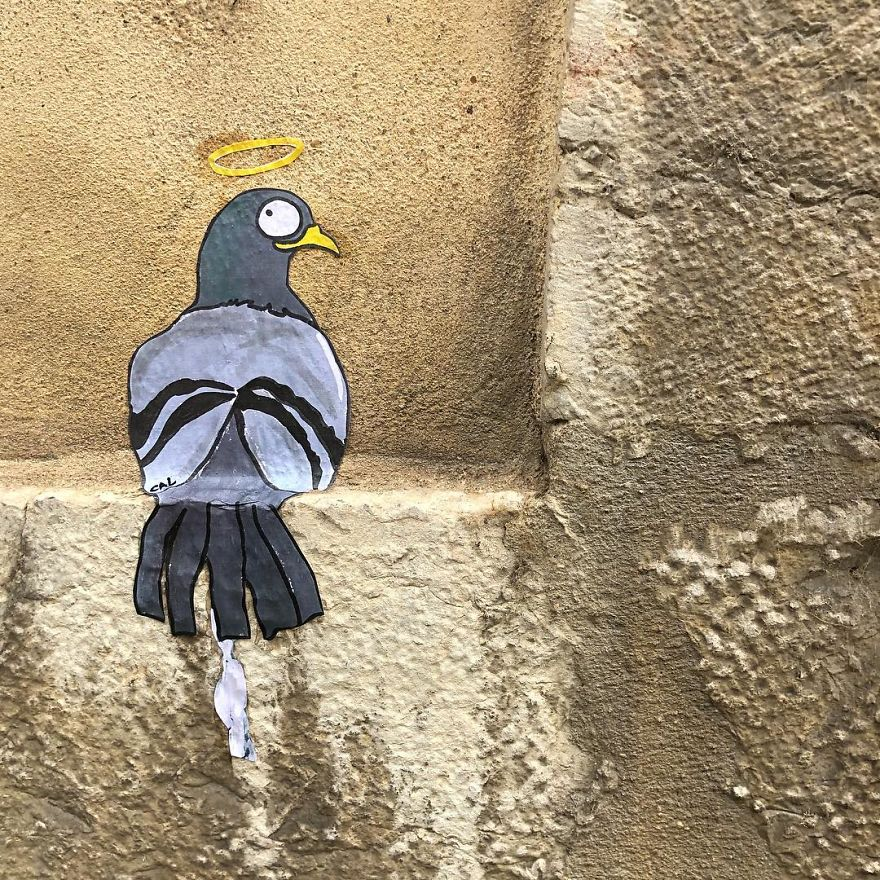 French Artist Sees Urban Spaces Like No One And Spreads Humor Through Them With His Art