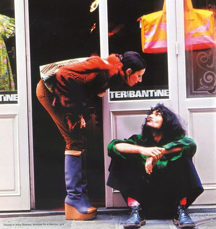 Mis padres delante de su tienda en París, 1972