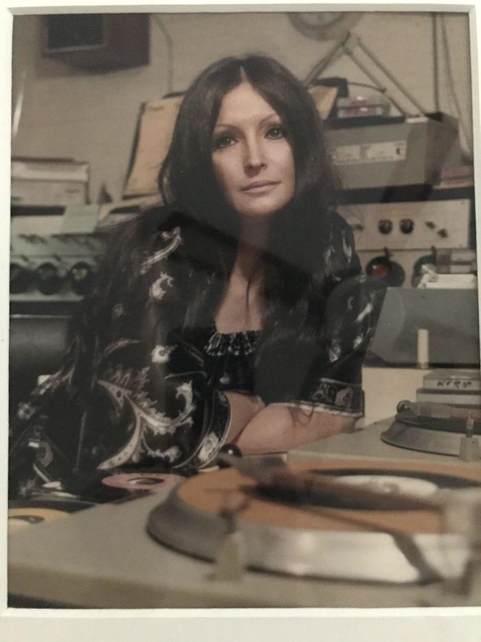 Mom Spinning Records At Kwkh, Shreveport - 1977