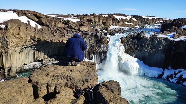 Photographing A Waterfall Miniature