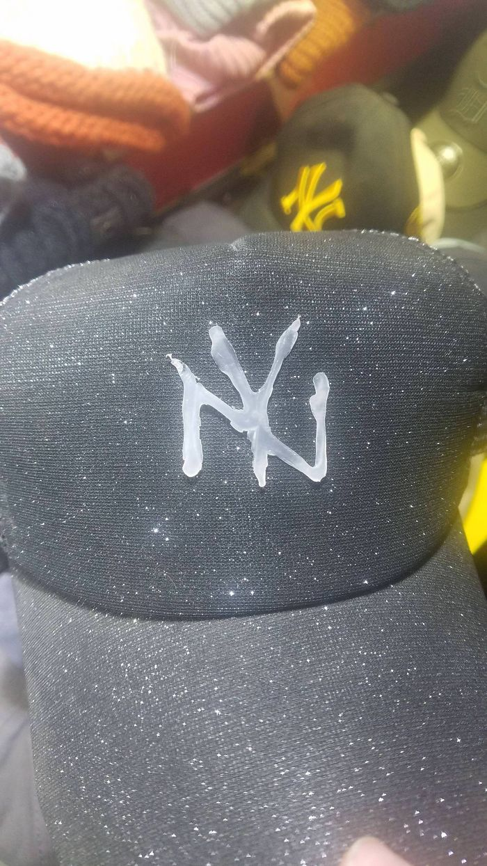 I Present You The Pinnacle Of Shanghai Markets, A Hot Glue NY Yankees Hat