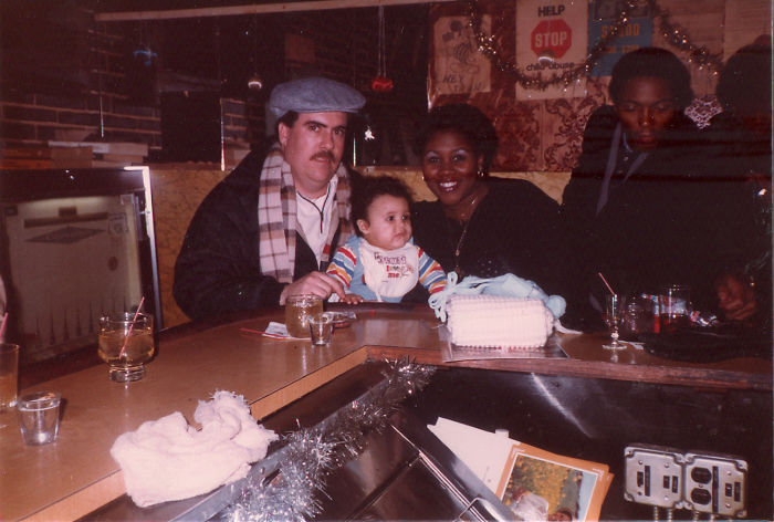 Infant Me, My Mother & Father At A Bar Because That's How Parents Rolled In The Early '80s