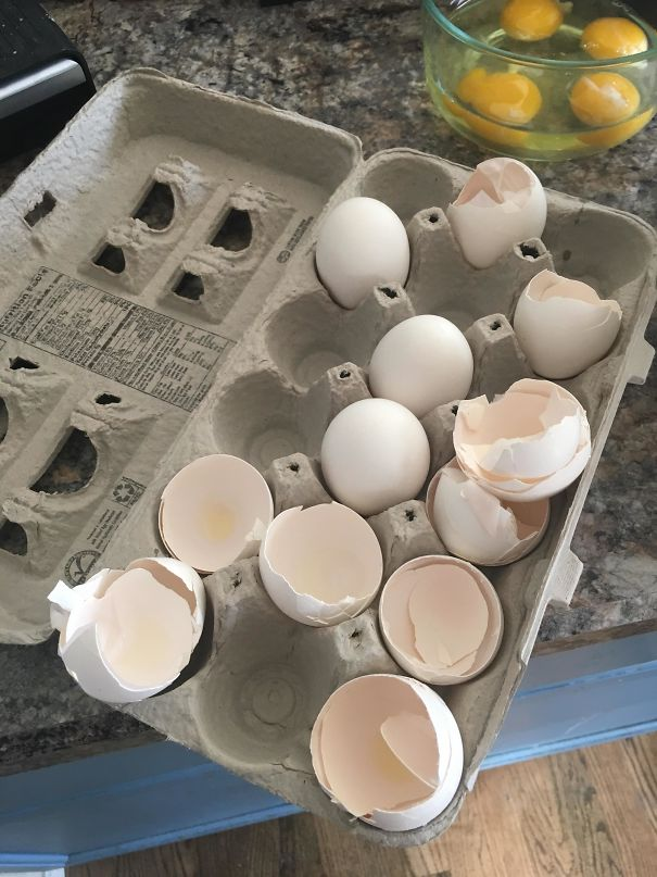 The Way My Wife Leaves The Egg Shells In The Carton Instead Of Throwing Them Into The Trash