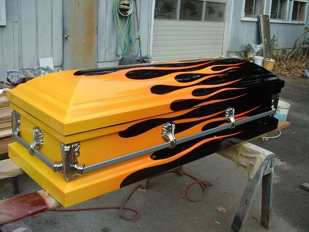 Hot Rod Casket