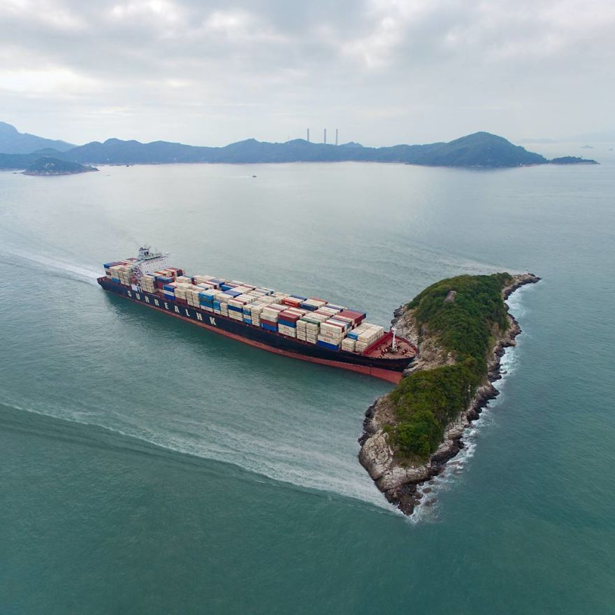 This Cargo Ship Is Not Only Delivering Containers...