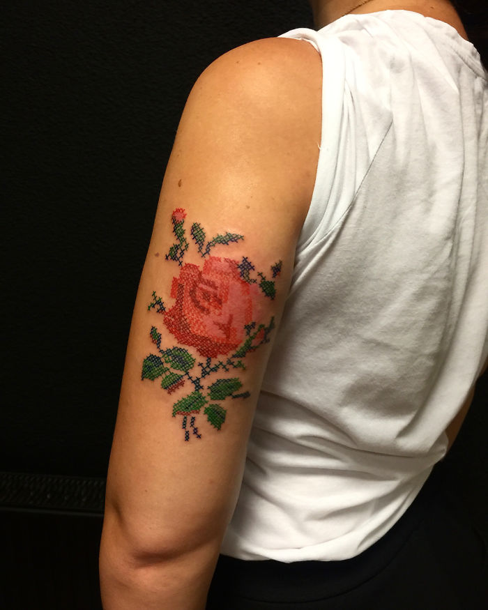 Cross-Stitch-Embroidery-Tattoo