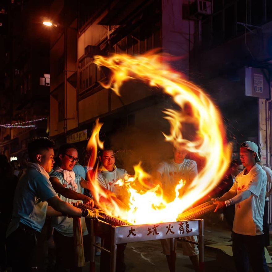 To Be Part Of The Fire Dragon Dance, You Must Be Fireproof!