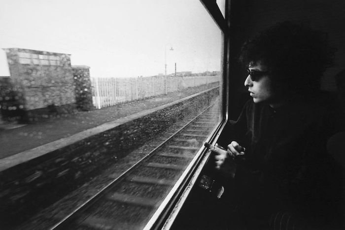 Bob Dylan On Train From Dublin To Belfast, 1966