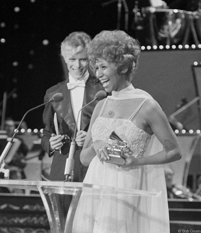 David Bowie & Aretha Franklin, Grammy Awards, NYC, 1975