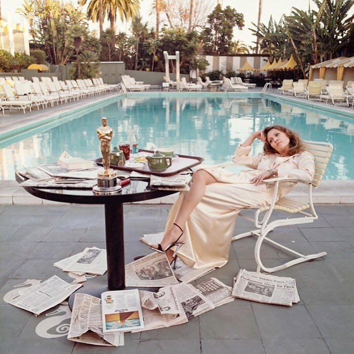 Faye Dunaway, Beverly Hills Hotel, CA, 1977