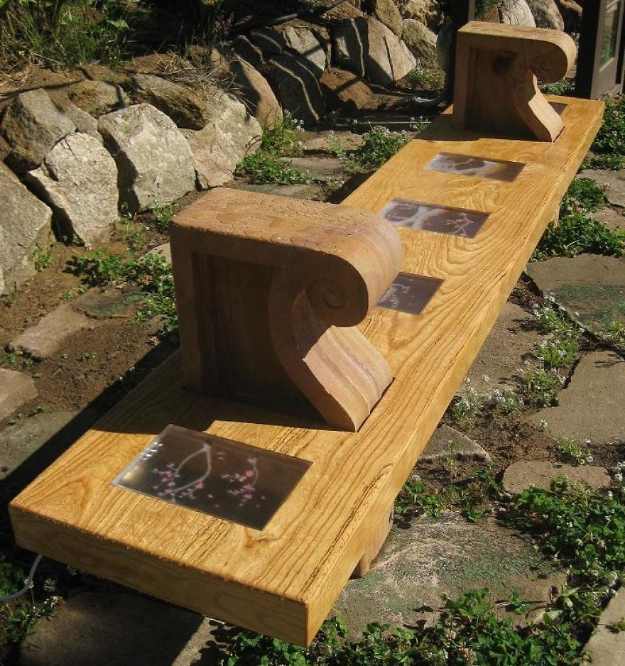 I Built A Meditation Bench In The Garden