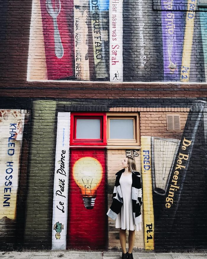 Literary mural by street artists
