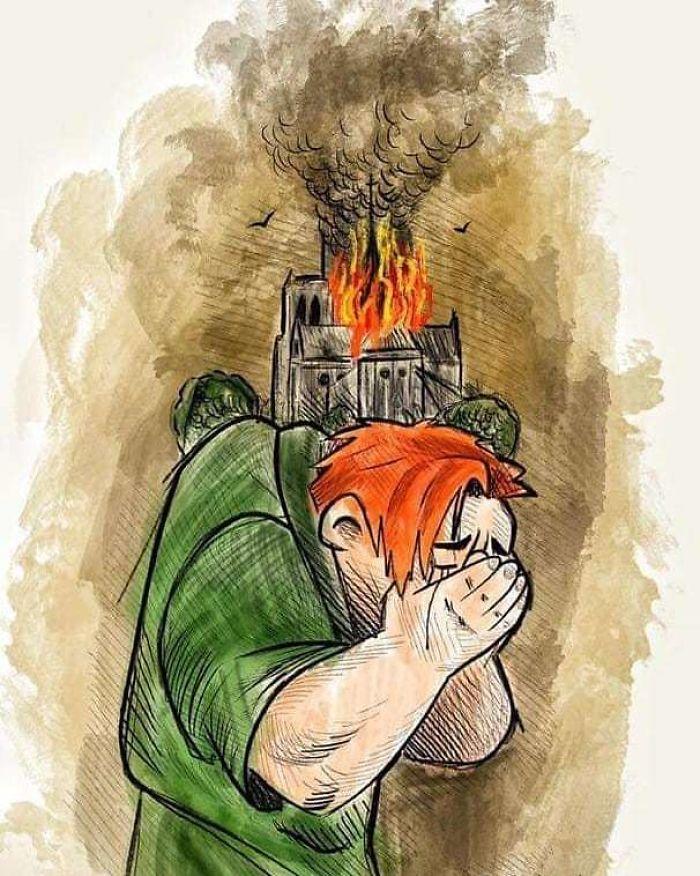 Con Quale Cuore Prego Ancora Notre Dame c'è... qualcuno Che Le Scaglierà La Prima Pietra? sia Cancellato Dalla Faccia Della Terra! #notredamedeparis #disney #quasimodo