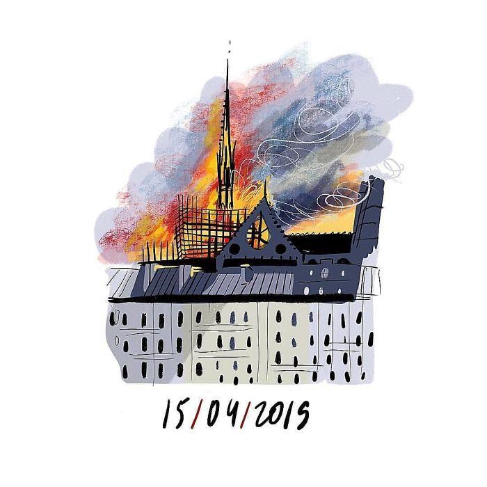 💔 〰️〰️〰️〰️〰️ #notredame #safenotredame #paris #help #fire #notredameparis #notredame #safe