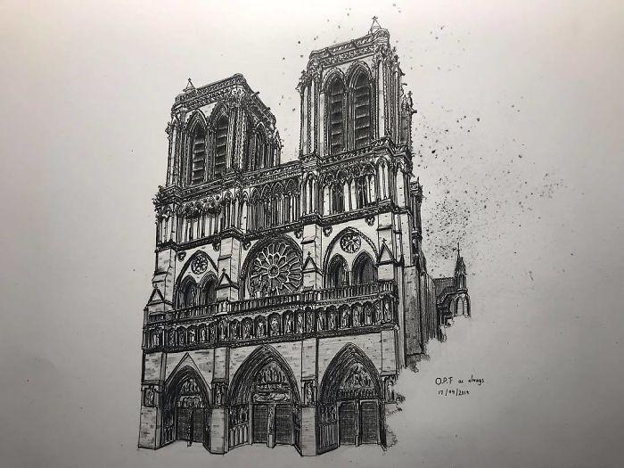 我想把最完美的一面呈现给大家 #pen #sketch #architecture #architecturestudent #wisearchi #paris #art #architectural #architecturaldrawing #notredame #drawings