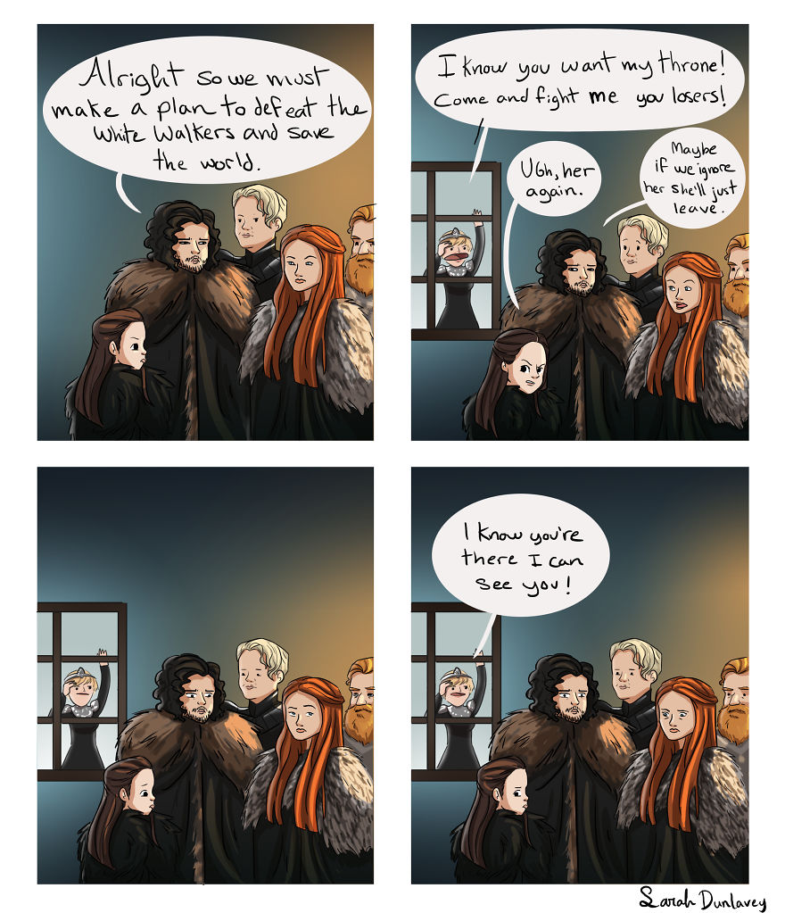 Comic Artist Shows What Happens Behind The Scenes Of Game Of Thrones