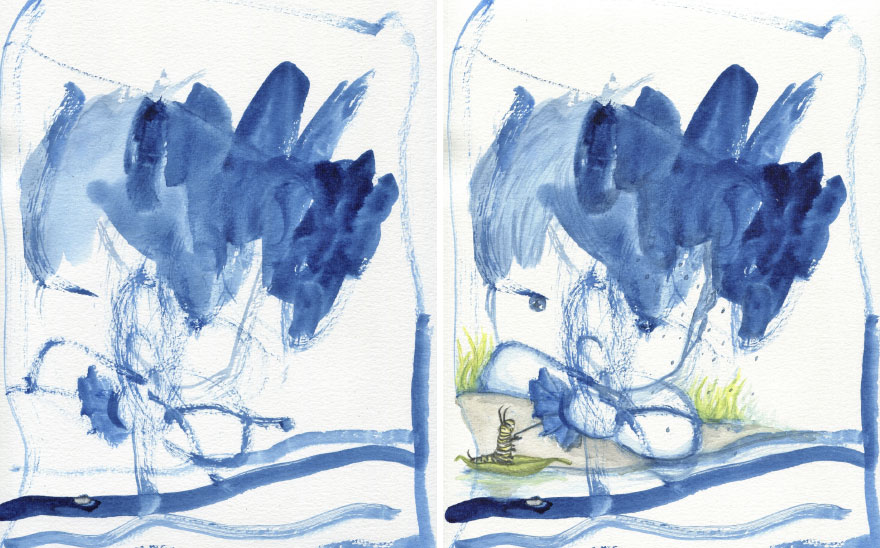 I Collaborate With My 3-Year-Old And 7-Year-Old To Create Imaginative Illustrations