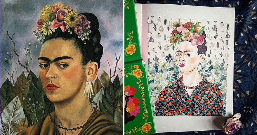 Self Portrait Dedicated To Dr Eloesser - Frida Kahlo