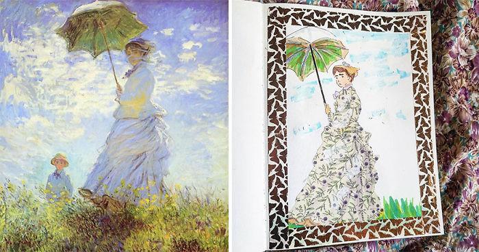 The Walk Woman With A Parasol – Claude Oscar Monet