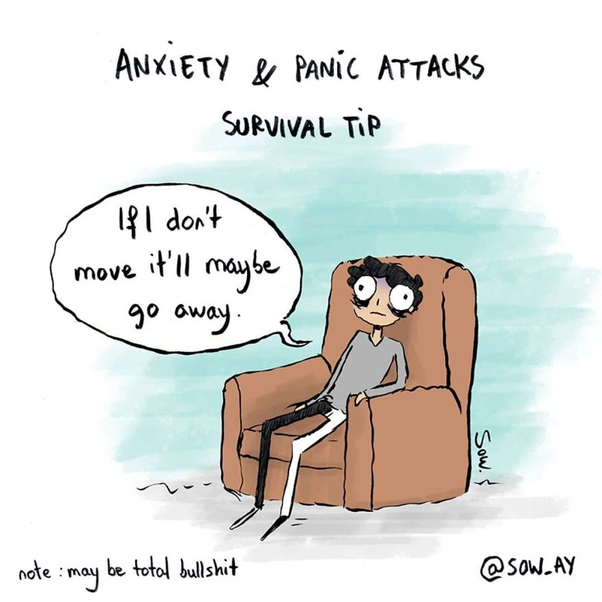 I Explain What My Depression And Anxiety Feels Like Through These Comics (New Pics)