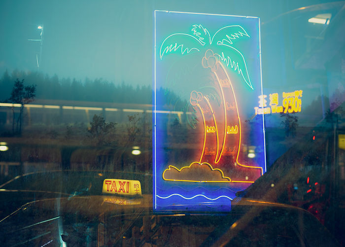 I Traveled From Finland To Hong Kong To Finish These In-Camera Multiple Exposures; A Contrasty Combination Of Scandinavian Nature & Asian Neon Lights