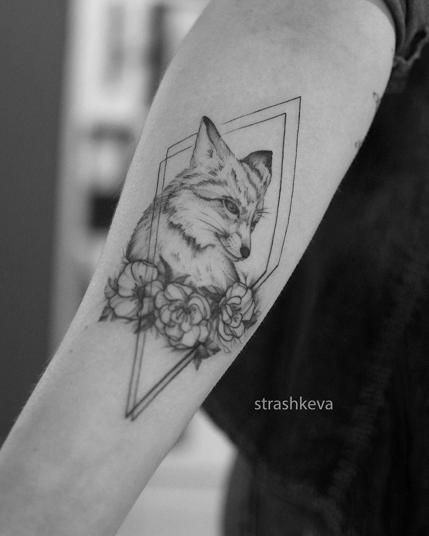 Fox In Geometrical Patterns