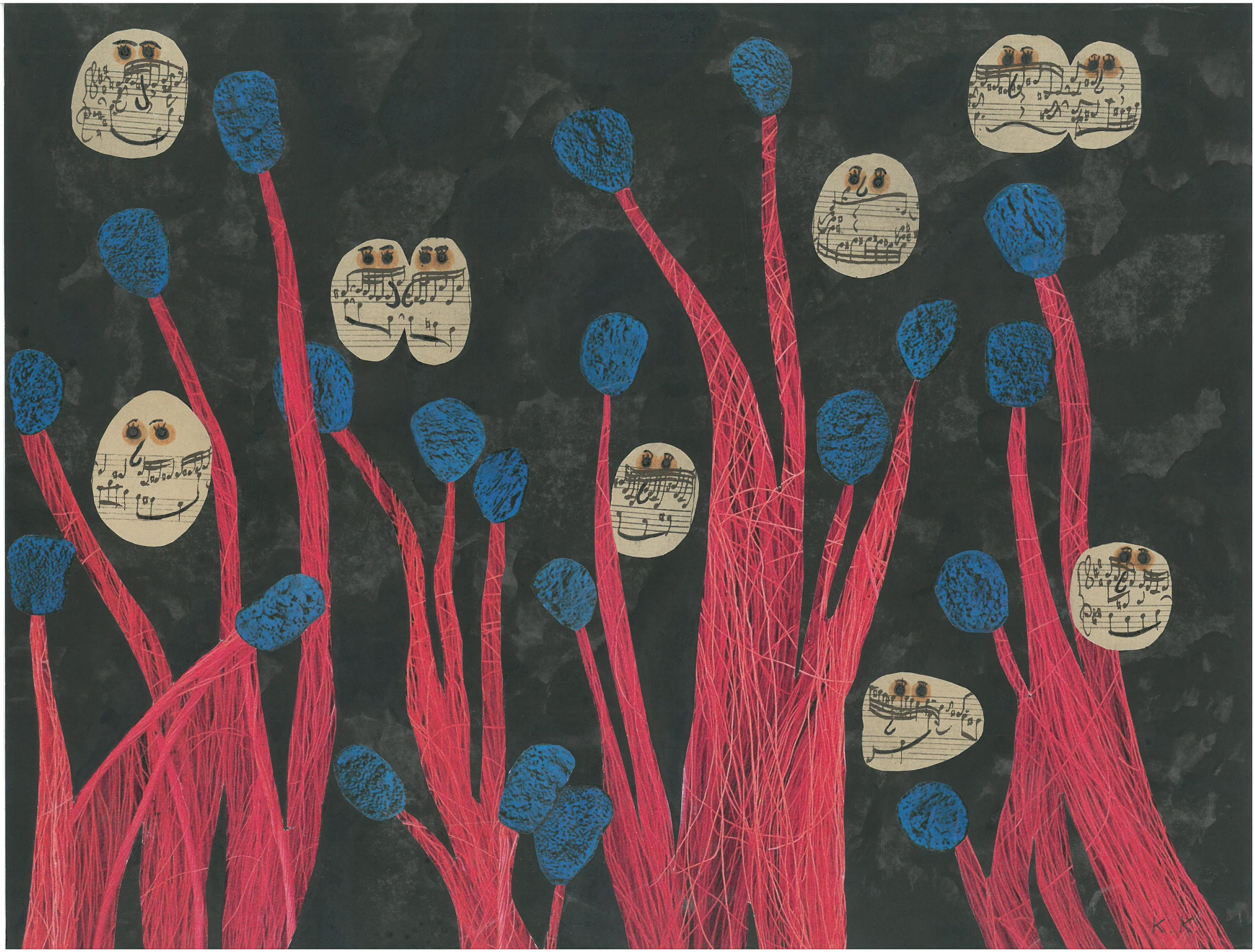 Music Beings And Nocturnal Plants, Outsider Collage, Who Is Indifferent Does Anyone Like It