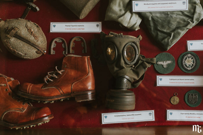 Exhibits From The Battle Of Crete, During Wwii (Maritime Museum Of Crete)